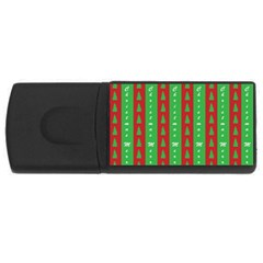 Christmas Tree Background USB Flash Drive Rectangular (2 GB)