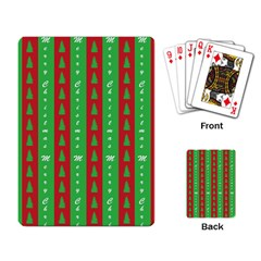 Christmas Tree Background Playing Card