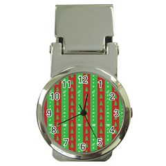 Christmas Tree Background Money Clip Watches