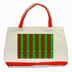 Christmas Tree Background Classic Tote Bag (Red)