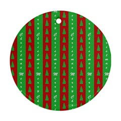 Christmas Tree Background Round Ornament (Two Sides)