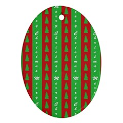Christmas Tree Background Oval Ornament (Two Sides)