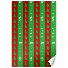 Christmas Tree Background Canvas 12  x 18