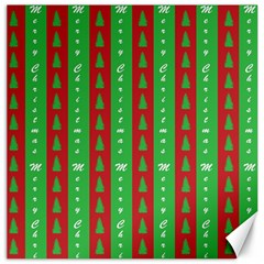 Christmas Tree Background Canvas 20  x 20