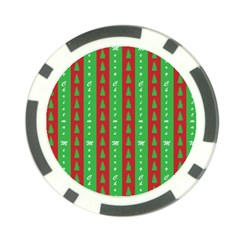 Christmas Tree Background Poker Chip Card Guard