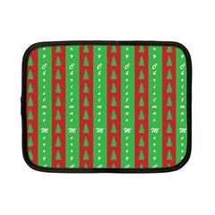 Christmas Tree Background Netbook Case (Small)