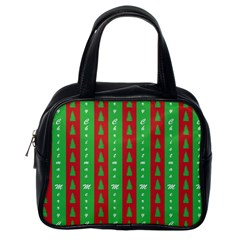 Christmas Tree Background Classic Handbags (One Side)