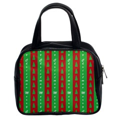 Christmas Tree Background Classic Handbags (2 Sides)