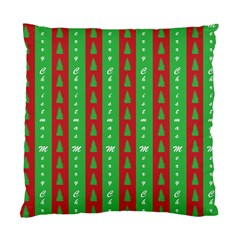 Christmas Tree Background Standard Cushion Case (Two Sides)