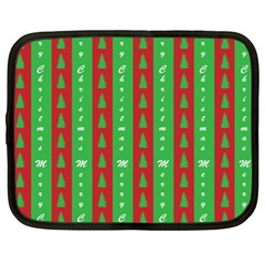 Christmas Tree Background Netbook Case (XL)