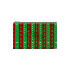 Christmas Tree Background Cosmetic Bag (Small)