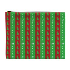 Christmas Tree Background Cosmetic Bag (XL)