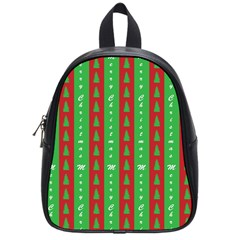 Christmas Tree Background School Bags (Small)
