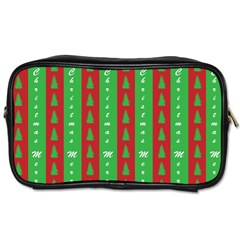 Christmas Tree Background Toiletries Bags