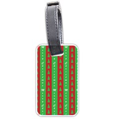 Christmas Tree Background Luggage Tags (One Side)
