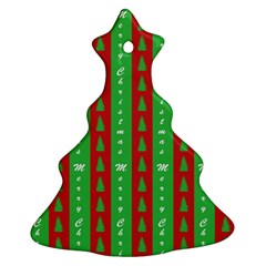 Christmas Tree Background Christmas Tree Ornament (Two Sides)