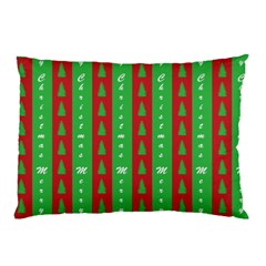 Christmas Tree Background Pillow Case (Two Sides)