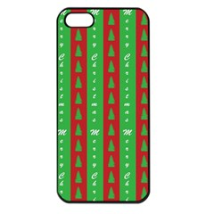 Christmas Tree Background Apple iPhone 5 Seamless Case (Black)