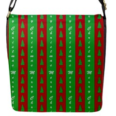 Christmas Tree Background Flap Messenger Bag (S)