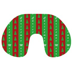 Christmas Tree Background Travel Neck Pillows