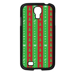Christmas Tree Background Samsung Galaxy S4 I9500/ I9505 Case (black)