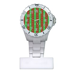 Christmas Tree Background Plastic Nurses Watch