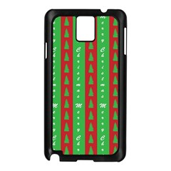 Christmas Tree Background Samsung Galaxy Note 3 N9005 Case (Black)