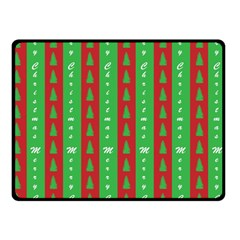 Christmas Tree Background Double Sided Fleece Blanket (Small)
