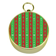 Christmas Tree Background Gold Compasses