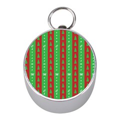 Christmas Tree Background Mini Silver Compasses