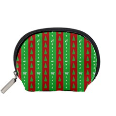 Christmas Tree Background Accessory Pouches (Small)