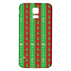 Christmas Tree Background Samsung Galaxy S5 Back Case (white)