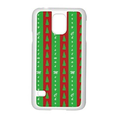Christmas Tree Background Samsung Galaxy S5 Case (white)