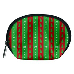 Christmas Tree Background Accessory Pouches (Medium)