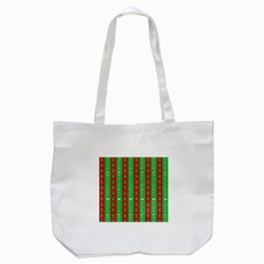 Christmas Tree Background Tote Bag (White)