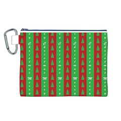 Christmas Tree Background Canvas Cosmetic Bag (L)