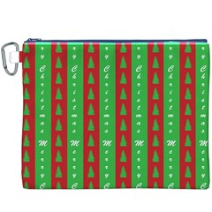Christmas Tree Background Canvas Cosmetic Bag (XXXL)