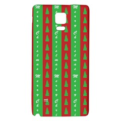 Christmas Tree Background Galaxy Note 4 Back Case