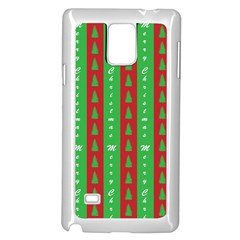 Christmas Tree Background Samsung Galaxy Note 4 Case (White)