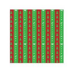 Christmas Tree Background Small Satin Scarf (Square)