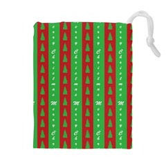 Christmas Tree Background Drawstring Pouches (Extra Large)