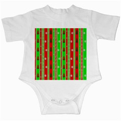 Christmas Paper Pattern Infant Creepers