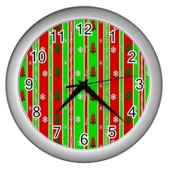 Christmas Paper Pattern Wall Clocks (Silver)