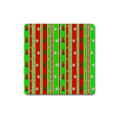 Christmas Paper Pattern Square Magnet