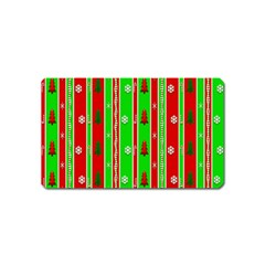 Christmas Paper Pattern Magnet (Name Card)