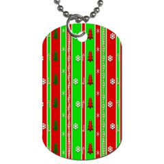 Christmas Paper Pattern Dog Tag (One Side)