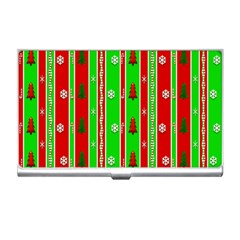 Christmas Paper Pattern Business Card Holders