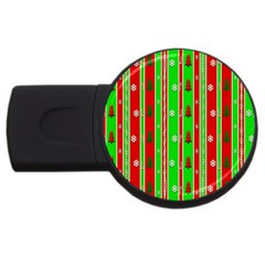 Christmas Paper Pattern USB Flash Drive Round (1 GB)