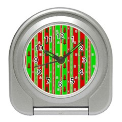 Christmas Paper Pattern Travel Alarm Clocks
