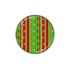 Christmas Paper Pattern Hat Clip Ball Marker (4 pack)